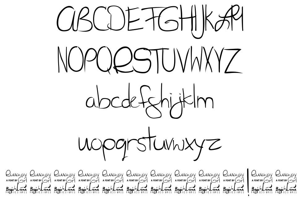 SL Runaway Girl font