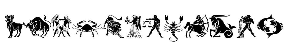 SL Zodiac Stencils font