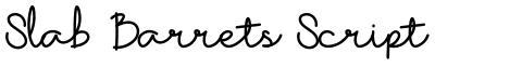 Slab Barrets Script