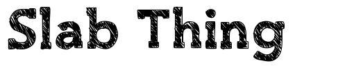 Slab Thing font
