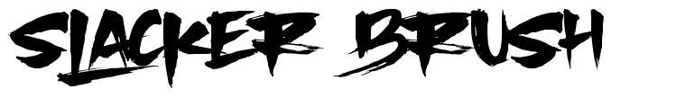 Slacker Brush font
