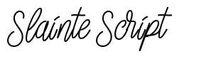Slainte Script