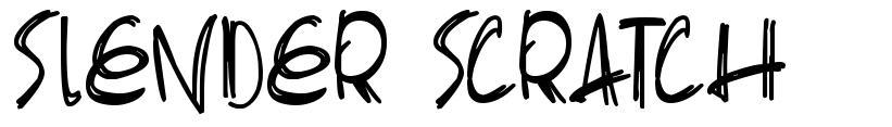 Slender Scratch