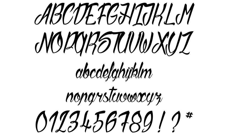 Sliced by Hand font