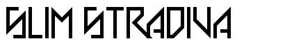 Slim Stradiva font