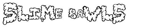 Slime Bawls font
