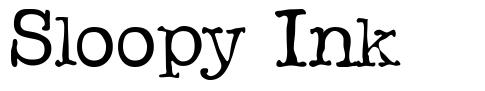 Sloopy Ink font