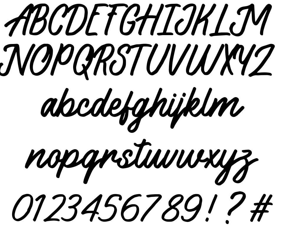 Sloutthy font