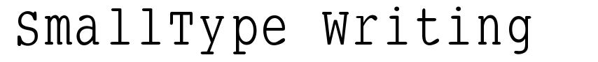 SmallType Writing font
