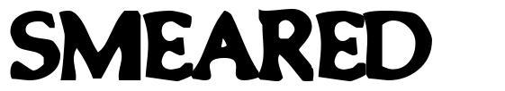 Smeared font