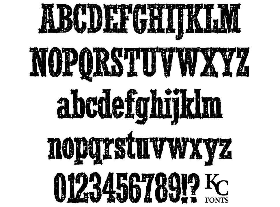 Smoke In The Woods font
