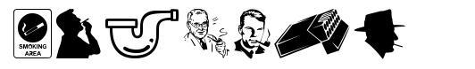 Smoking font