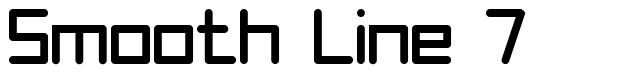 Smooth Line 7 font