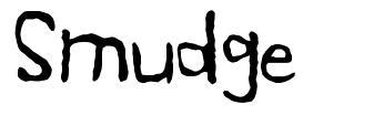 Smudge font