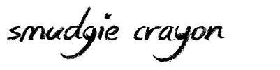 Smudgie Crayon czcionkę