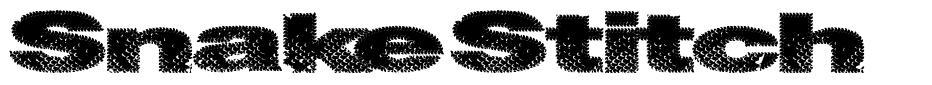Snake Stitch font