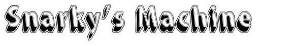 Snarky's Machine font