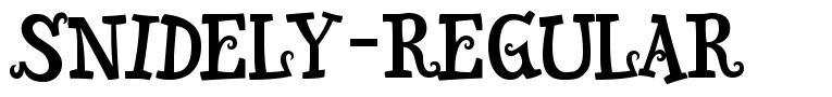 Snidely-Regular font