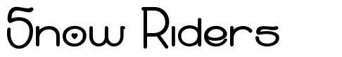 Snow Riders schriftart