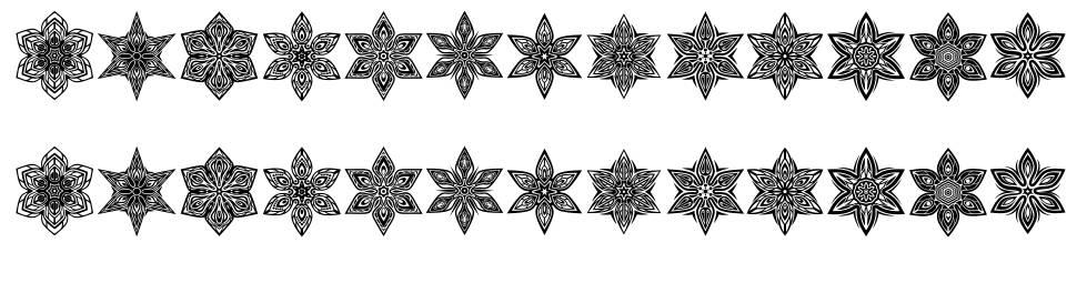 Snowflake шрифт