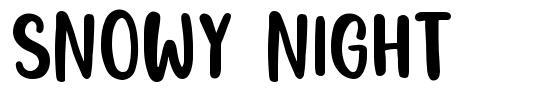 Snowy Night font