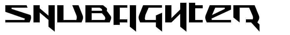 Snubfighter font