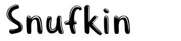 Snufkin font