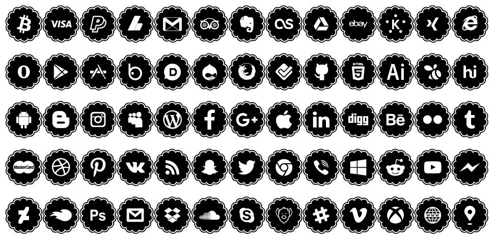 Social Icons font