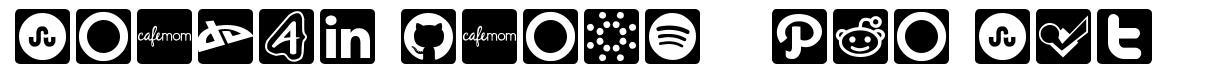 Social Icons - Pro Set шрифт