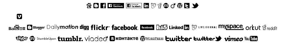 Social Logos písmo