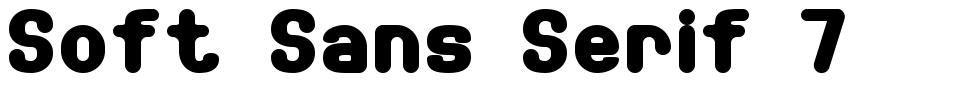 Soft Sans Serif 7