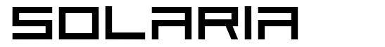 Solaria font