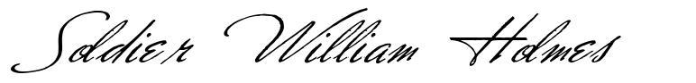 Soldier William Holmes fonte