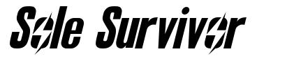 Sole Survivor font