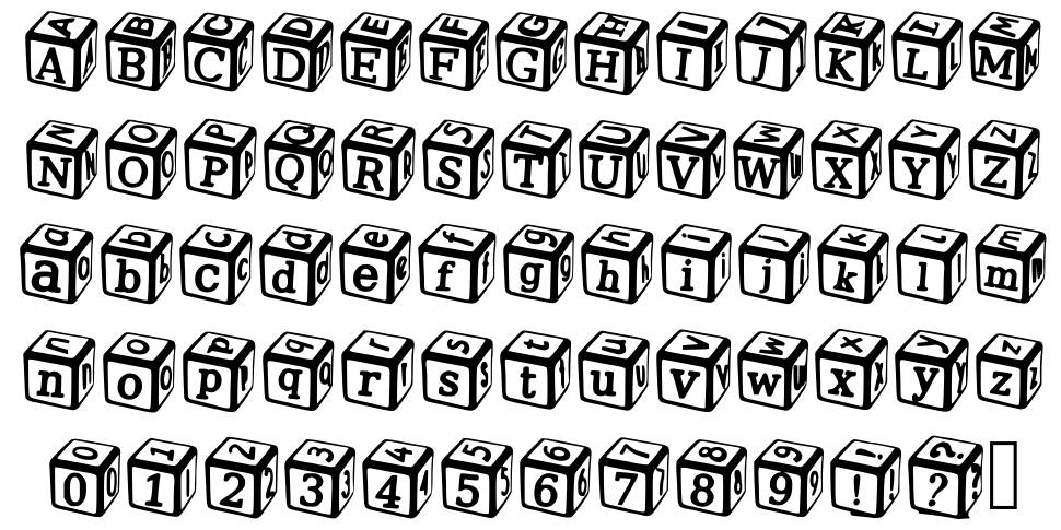 Solid Dice font