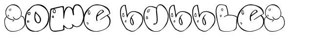 Some bubbles font