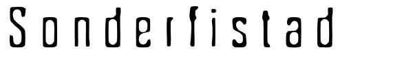 Sonderfistad font