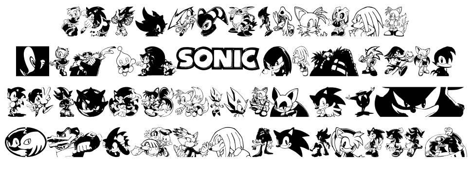 Sonic Mega Font 字形