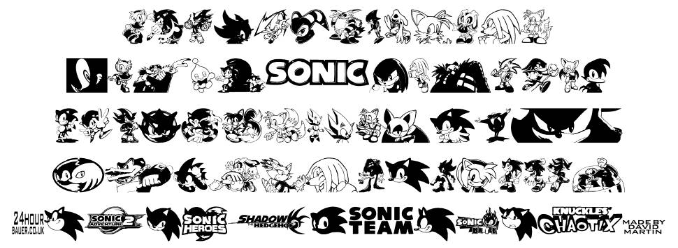 Sonic Mega Font font