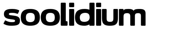 Soolidium font