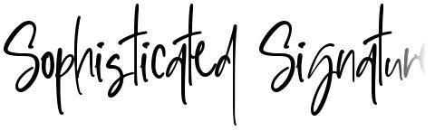 Sophisticated Signature