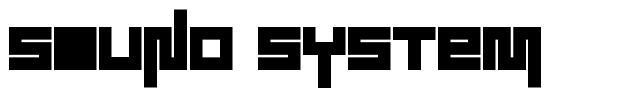 Sound System font