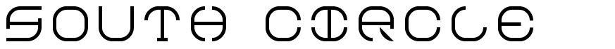 South Circle font