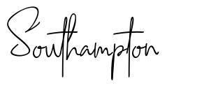 Southampton 字形
