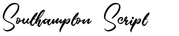 Southampton Script шрифт