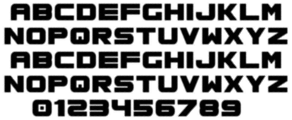Spac3 Halftone font