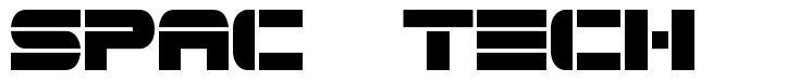 Spac3 Tech font