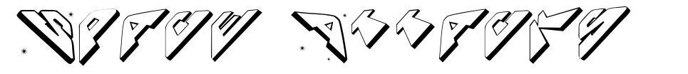 Space Attacks 字形