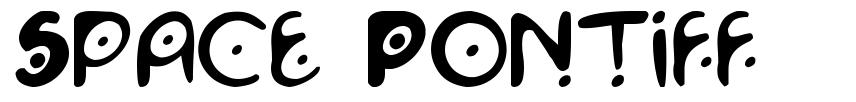 Space Pontiff font