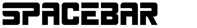 Spacebar font